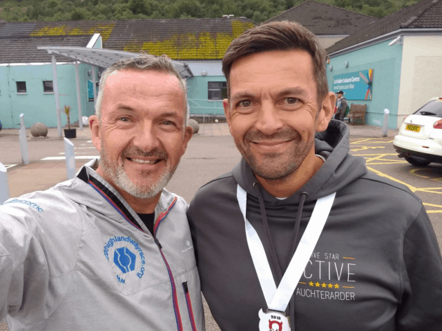 Podcasting Pair Running to Set the River Tay Way Record